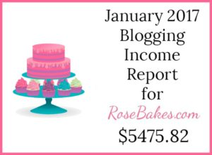 January 2017 Blogging Income Report