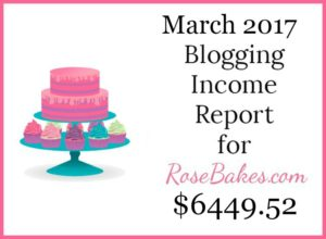 March 2017 Blogging Income Report