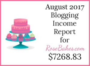 August 2017 Blogging Income Report