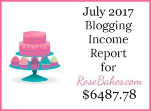 July 2017 Blogging Income Report