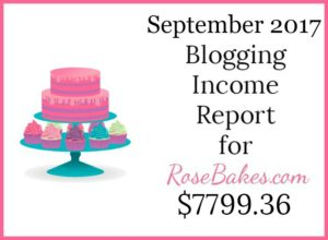 September 2017 Blogging Income Report